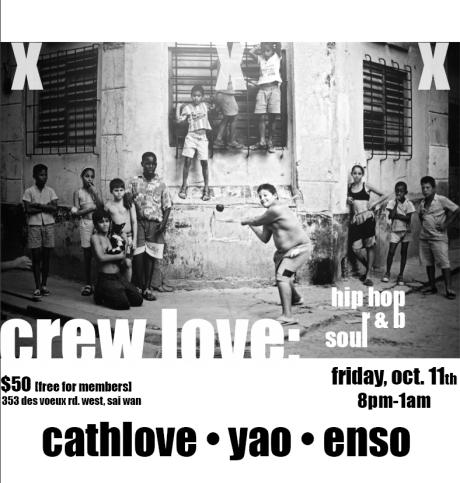 Fri Oct 11: ***CREW LOVE ♫ ✌☮ ♡ ☼ ♨***